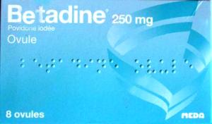 Betadine 250 mg, ovule