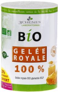 3 chênes bio gelée royale 100%