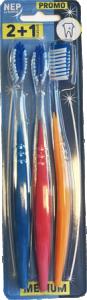 Brosse à dents  medium lot de 3