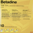 Betadine tulle 10%, pansement médicamenteux